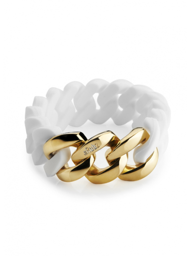 The Rubz bracelet Blanc Metal Or