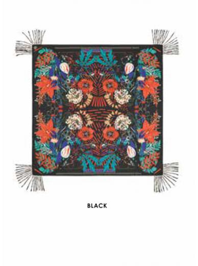 Foulard Bouquet Noir Amenapih