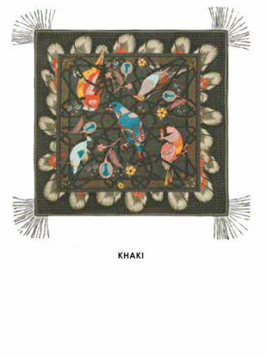 Foulard Calliste Kaki Amenapih