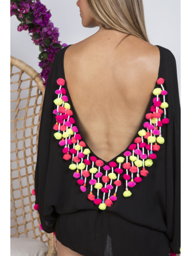 Robe Loulou noire Sundress