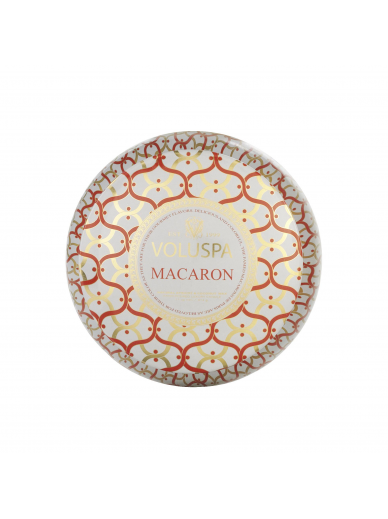 Bougie 2 mèches Macaron