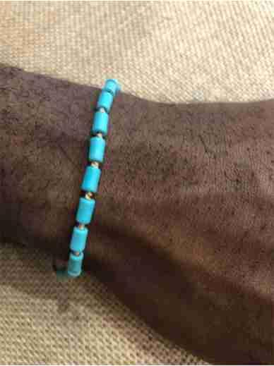 Bracelet Zag turquoises N16