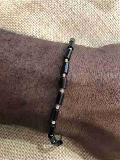 Bracelet Zag onyx N23