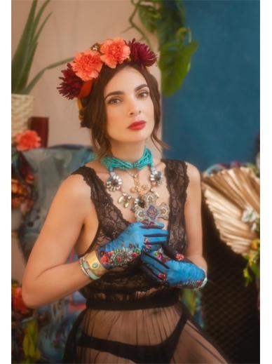 Gants Azul Frida Kahlo x Maison Brokante