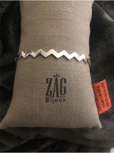 Bracelet Zag jonc en acier