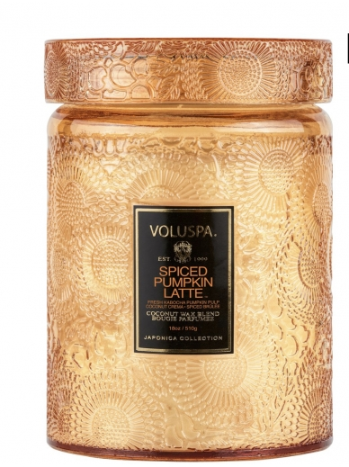 Bougie Large Glass Spiced Pumpkin Latte Voluspa
