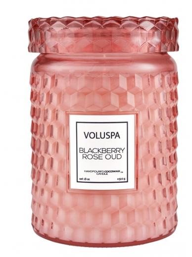Bougie Large Glass Blackberry Rose & Oud Voluspa